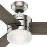 Hunter Fan 54 inch Contemporary Ceiling Fan with Remote Control in Brushed Nickel (Certified Refurbished)