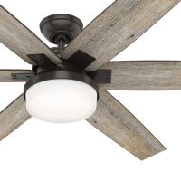Hunter Fan 64 inch Casual Nobel Bronze Indoor Ceiling Fan with Light Kit and Remote Control (Certified Refurbished)